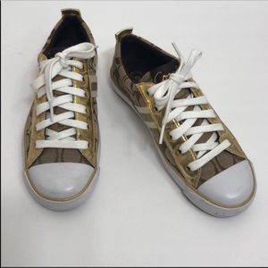 Coach Signature Sneakers Size 6B